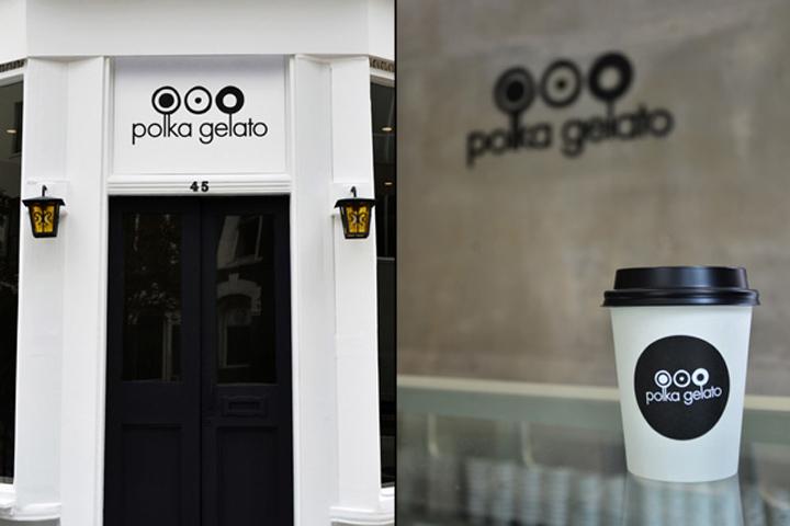 Polka Gelato store by VONSUNG 07 Polka Gelato store identity, design, branding by VONSUNG