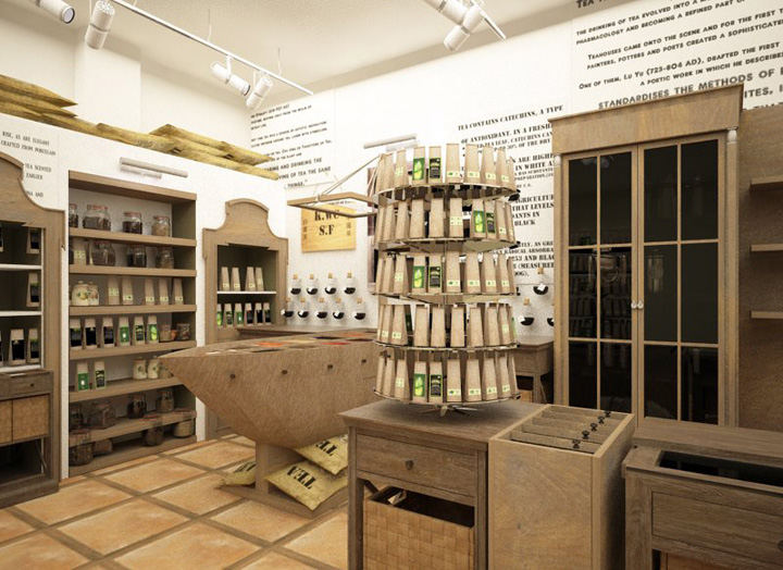 TEA SHOP Tea Shop By Kristina Krutaya Retail Design Blog