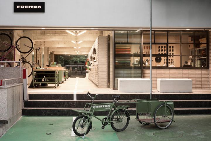 FREITAG store in Shibuya by spillmann echsle architekten Torafu Architects Tokyo 06 FREITAG store in Shibuya by spillmann echsle architekten & Torafu Architects, Tokyo
