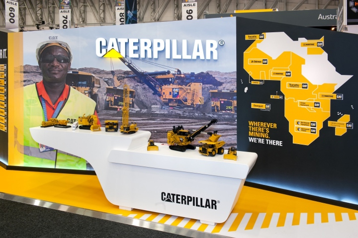 Caterpillar exhibit at Mining Indaba 2014 by Hott3D Cape Town South Africa 07 Caterpillar booth at Mining Indaba 2014 by Hott3D, Cape Town   South Africa