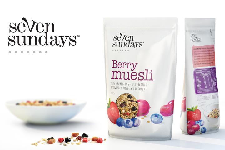 Seven Sundays Muesli branding by The Spice Agency Seven Sundays Muesli branding by The Spice Agency