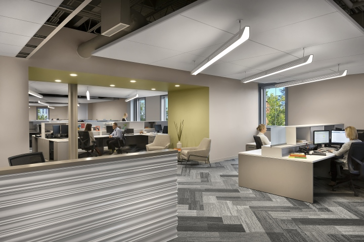 , Greystar office by LS3P, Charleston – South Carolina, SAGTCO Office Furniture Dubai & Interactive Systems