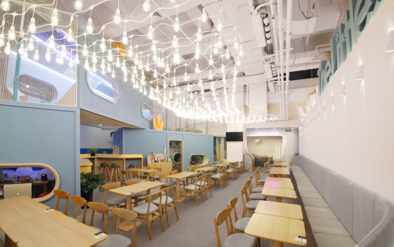 thelittles kids cafe interior design