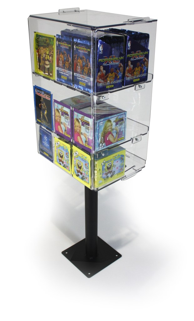 collectible sticker display plinth