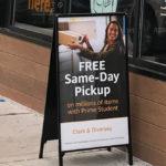 Free Same-Day Pickup Sign