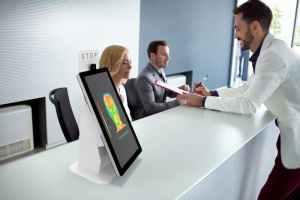 temperature scanning kiosk