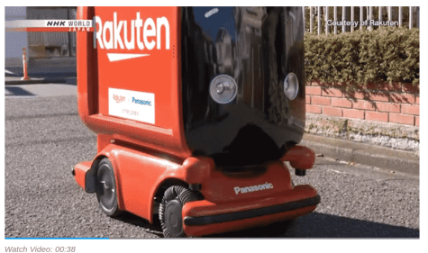 Automated robot delivery Japan