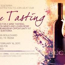 CAS-0117-0001 Club at Sonterra Wine Tasting Flyer