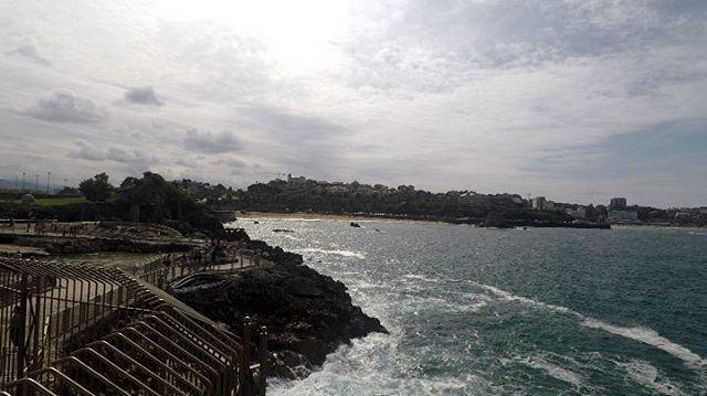 Las playas vistas desde el Palacio de la Magdalena