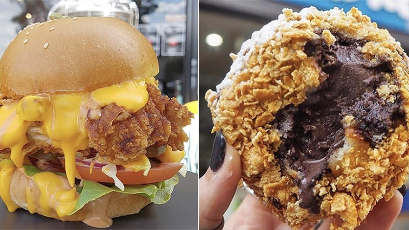 Gorge On Yummy Wonton Burgers, Fried Ice Cream & More At This Cray Stall @ H.O.P.
