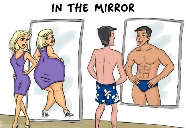 Hilarious Illustrations Depict The Differences Between Men And Women. #7 Is So True It Hurts!