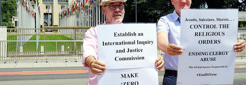 Il Papa a Ginevra celebra la messa e le vittime della pedofilia manifestano davanti all'Onu