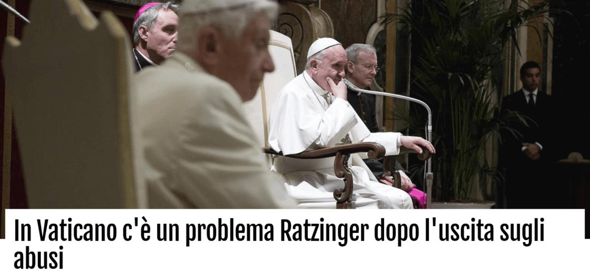 In Vaticano c'è un problema Ratzinger dopo l'uscita sugli abusi