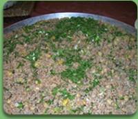 Salata Tabbouleh (Tabouli, Tabule) cu carne tocata de pui