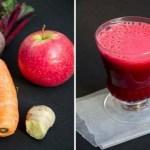 Ce se întâmplă atunci când amestecați  suc de sfeclă, morcovi și mere: un pahar de suc care distruge toate bolile
