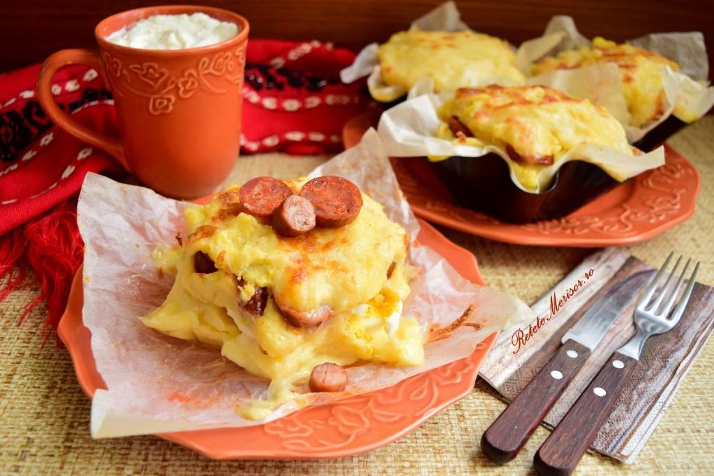 Bulz cu brânză de burduf și cârnați Maestro