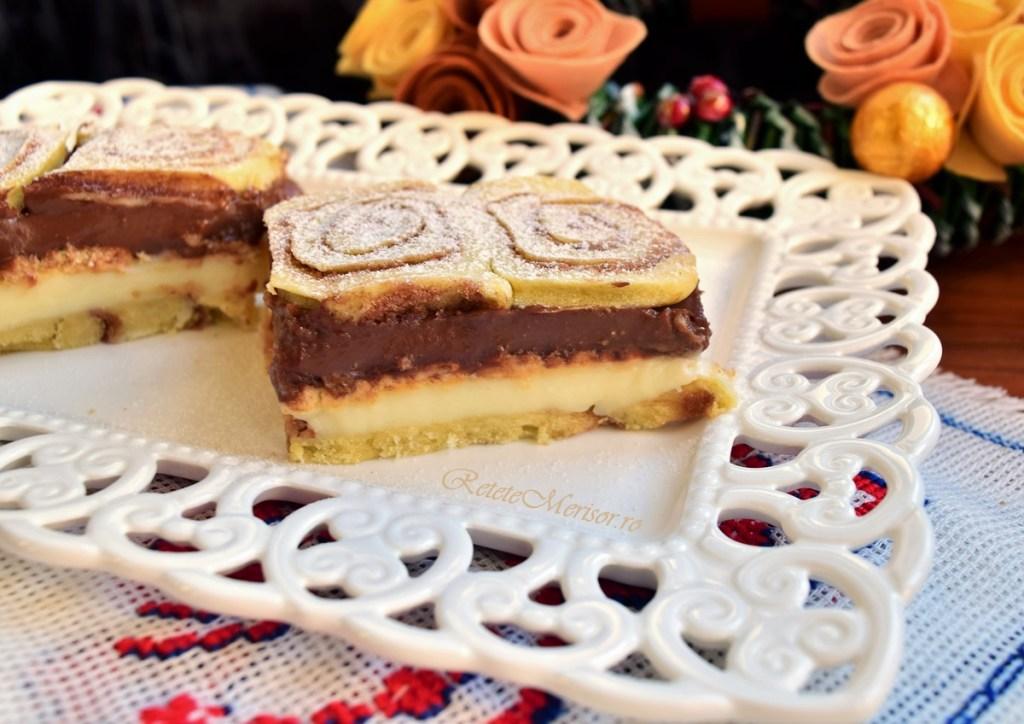 Prăjitura cu aluat rulat cu scorțișoară