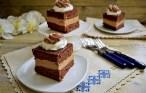 Prăjitură cu ciocolată și cremă fructată