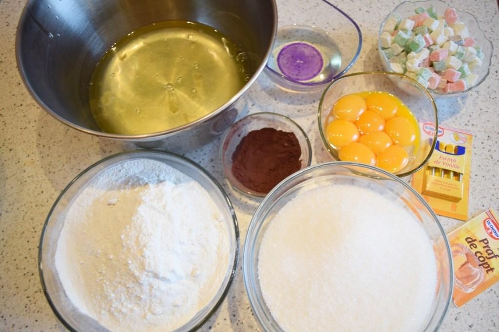 Ingrediente pentru chec cu rahat