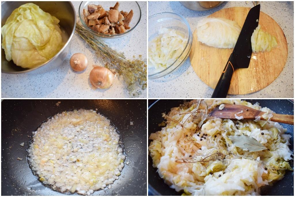 Ingrediente pentru mâncare de varză murată