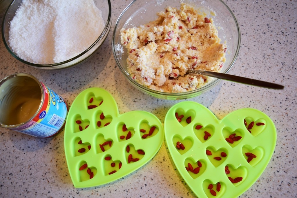 Ingrediente pentru bomboane de cocos