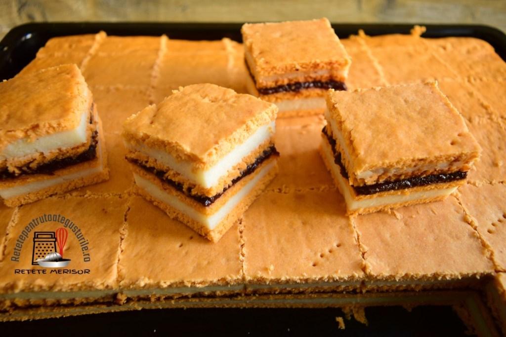 Prăjitura cu foi cu bulion