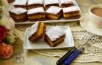 Prăjitură cu dovleac plăcintar și foi cu cacao gata de servit