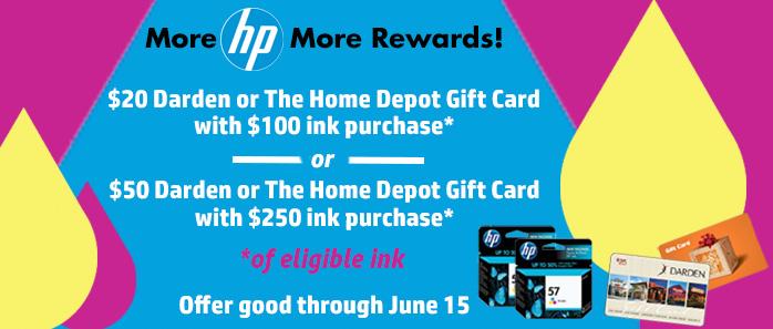 Buy More HP Ink, More Rewards