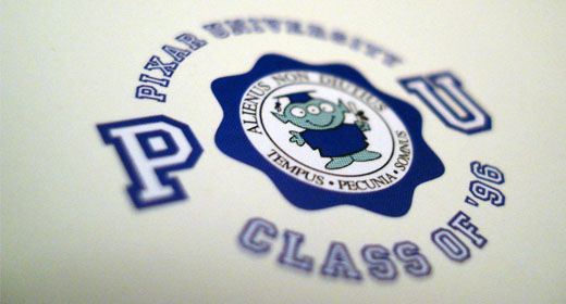 Logo of Pixar University, from the Pixar's book