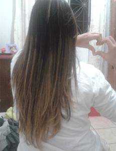 Dia de combo: coloração + progressiva! Que cabelón!