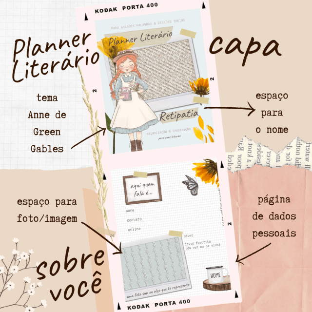 Planner Literário 2021 com tema de Anne de Green Gables: DIY & Download Gratuito