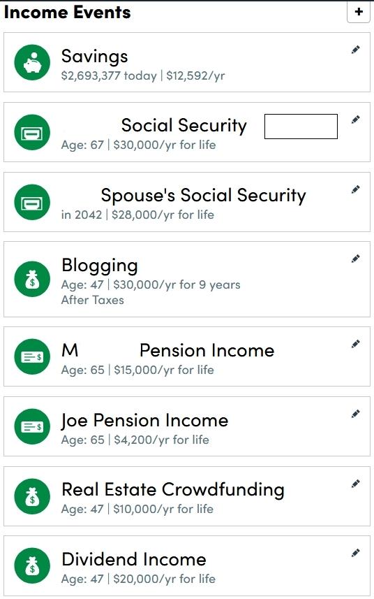 Retirement Planner Income