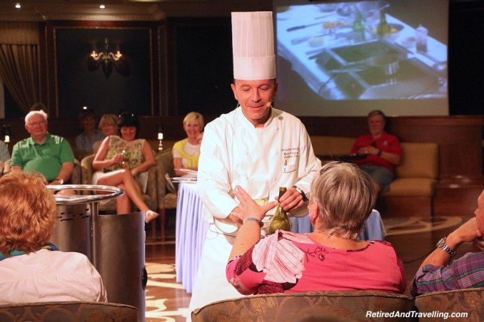 Wine for a reward - Cooking demonstrations onboard a cruise ship.jpg