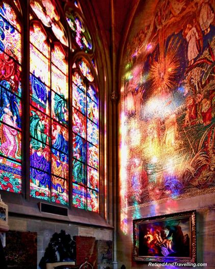 Stained Glass Prague Castle St Vitrus Church - Things To Do In Prague.jpg