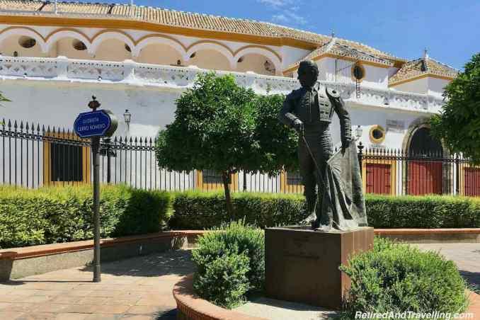 Traditions Santa Cruz Plaza de Toros Statue Glorieta Curro Romero - Much To See And Do - Visit Andalusia Spain.jpg