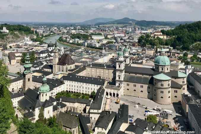 Austria Salzburg River Walk Hohensalzburg Castle View.jpg