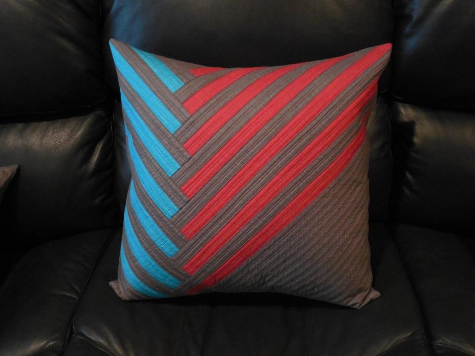 diagonal stripes pillow
