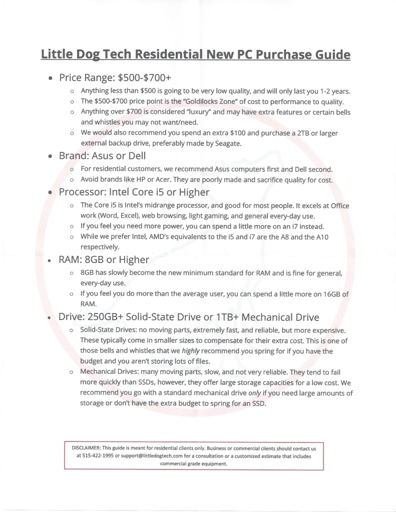 new pc purchase guide