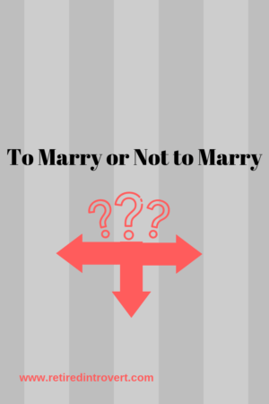 to marry or not