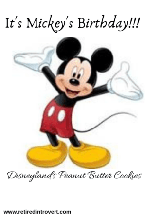 Mickey's peanut butter cookies