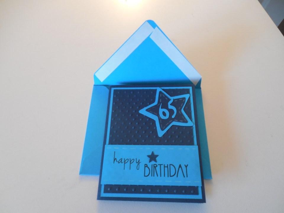 65 birthday card
