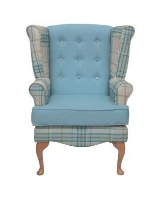 Calder high seat chair in Panaz Oscar check, www.retiredlifestyle.co.uk , high seat chairs, Fireside Chairs, high back chairs, wingback chair, elderly chairs.