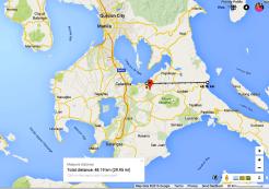 Laguna to the Pacific Ocean = 50 kilometers