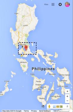 Laguna in relation to Luzon