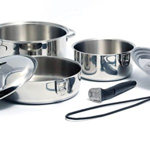 Stainless Steel Camping Pans