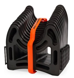 Camco 43031 10ft Sidewinder RV Sewer Hose Support, Made from Sturdy Lightweight Plastic, Won't Creep Closed, Holds Hoses in Place - No Need for Straps