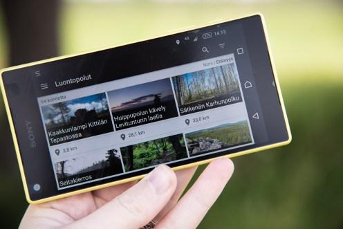 Mobiilisovelluksia kohteita voi selailla myös maakunnan sekä kohdetyypin mukaan. Oma etäisyys kohteisiin on helposti näkyvillä.