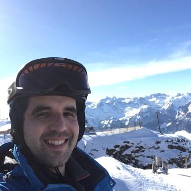 Wannabe skier on Fronalpstock, Stoos
