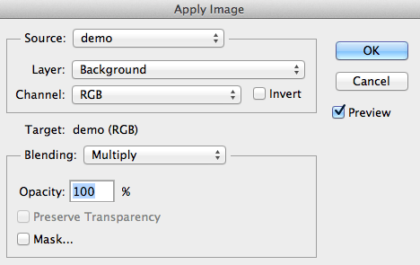 Apply Image - Multiply