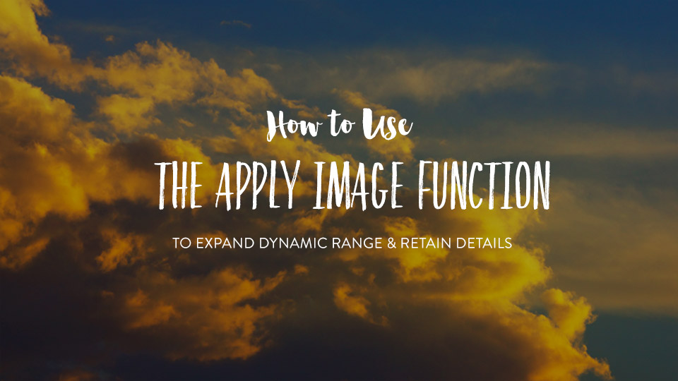 How to Use Apply Image Function to Expand Dynamic Range While